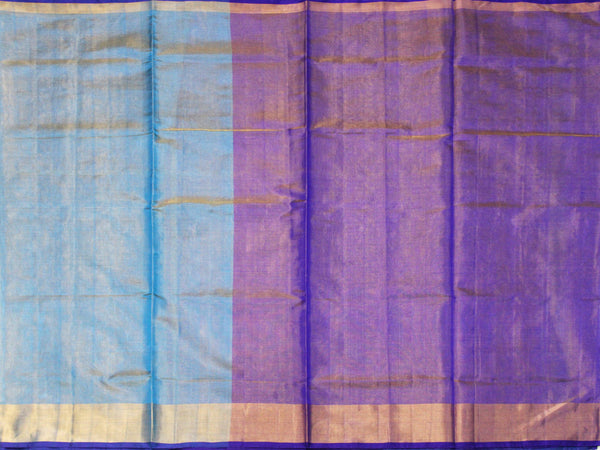 Popular Uppada Silk saree (Tissue pattern) with a contrasting attached blouse - 38008F