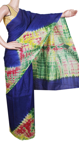 * Rs.200 off * Assam Silk saree with an attractive shibori print -Dark Green (40014D)