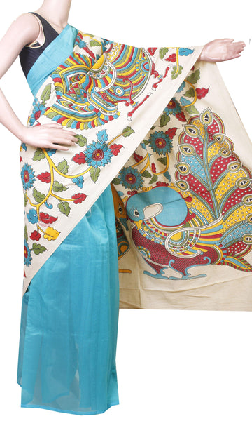 Beautiful Chanderi Silk Saree pattern with beautiful Pallu  with matching blouse-41039A