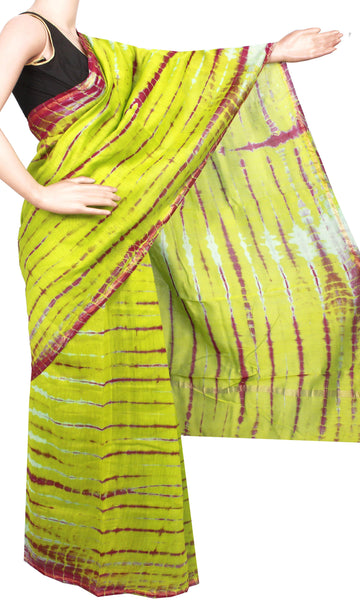 Chanderi Silk Saree exclusive design with Zari Border (41041A), Sarees - Swadeshi Boutique