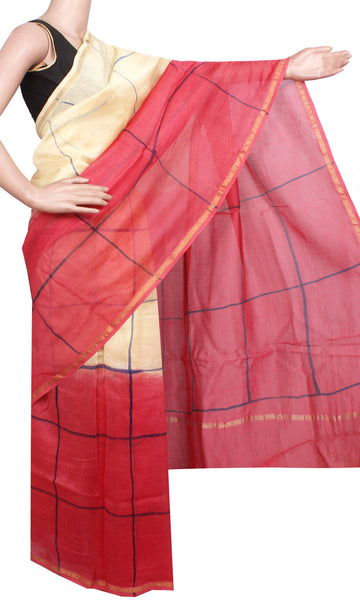 Beautiful Chanderi Silk Saree pattern with Zari Border for all-time use (41044A)
