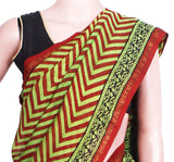 Chanderi Silk Saree pattern with Zari Border for all-time use (41048A) - Swadeshi Boutique