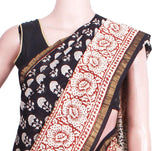 Beautiful Chanderi Silk Saree pattern with Zari Border for all-time use (41049A)