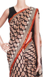 Chanderi Silk Saree pattern with Zari Border for all-time use (41056A), Sarees - Swadeshi Boutique