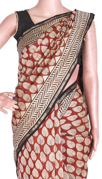 Chanderi Silk Saree pattern with Zari Border for all-time use (41056D), Sarees - Swadeshi Boutique