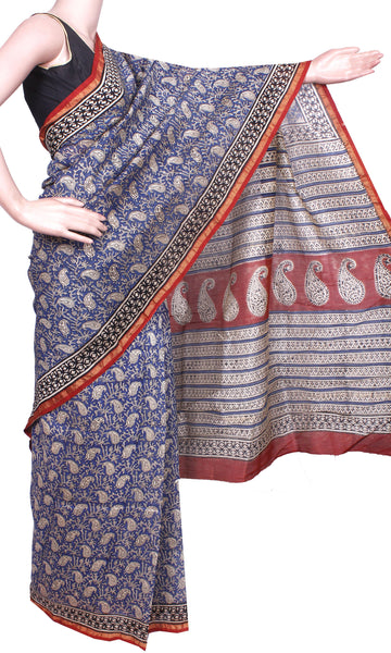 Beautiful Chanderi Silk Saree pattern with Zari Border for all-time use (41065A)