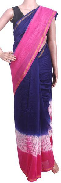 Beautiful Chanderi Silk Saree pattern with Zari Border for all-time use (41066A), Sarees - Swadeshi Boutique