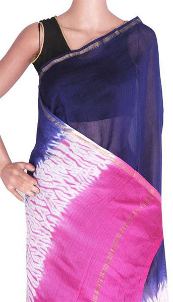 Beautiful Chanderi Silk Saree pattern with Zari Border for all-time use (41066A)