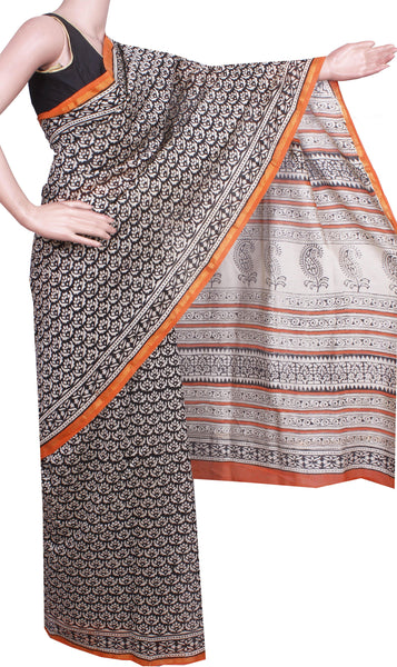 Beautiful Chanderi Silk Saree pattern with Zari Border for all-time use (41080A)