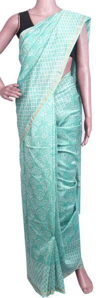 Beautiful Chanderi Silk Saree pattern with Zari Border for all-time use (41087A)