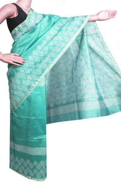 Chanderi Silk Saree pattern with Zari Border for all-time use (41089A)