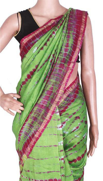 Chanderi Silk Saree pattern with Zari Border for all-time use (41097A)