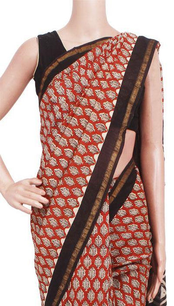 Chanderi Silk Saree pattern with Zari Border for all-time use (41135A), Sarees - Swadeshi Boutique