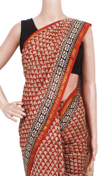 Chanderi Silk Saree pattern with Zari Border for all-time use (41139A)