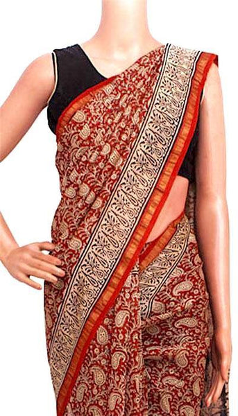 Chanderi Silk Saree pattern with Zari Border for all-time use (41149A), Sarees - Swadeshi Boutique