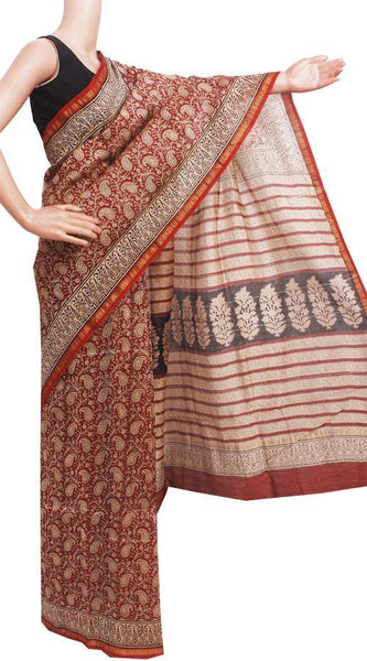 Chanderi Silk Saree pattern with Zari Border for all-time use (41149A)