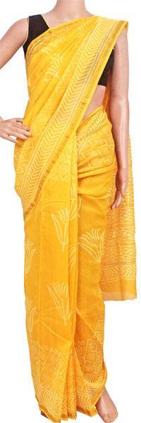 Chanderi Silk Saree pattern with Zari Border for all-time use (41173A), Sarees - Swadeshi Boutique