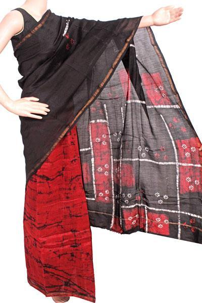 Chanderi Silk Saree pattern with Zari Border for all-time use (41175A)