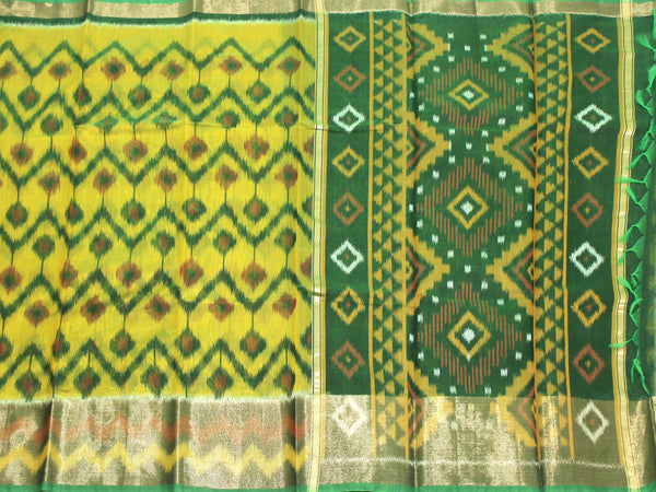 Pochampally Silk saree with beautiful ikkat pattern - 43016A, Sarees - Swadeshi Boutique