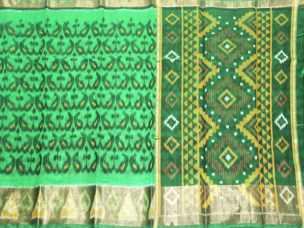 Pochampally Silk saree with beautiful ikkat pattern - 43017A, Sarees - Swadeshi Boutique
