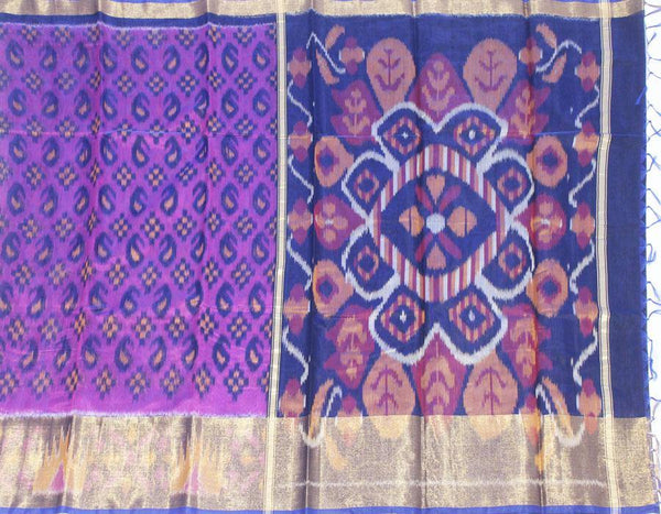 Pochampally Silk saree with beautiful ikkat pattern - 43023A, Sarees - Swadeshi Boutique