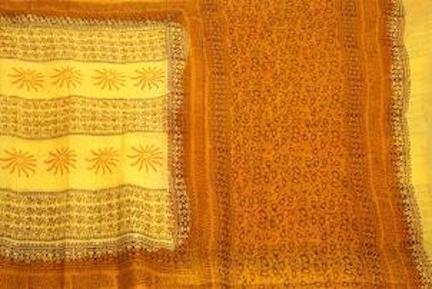 Pure Soft Cotton saree with beautiful pallu - 48020A - Swadeshi Boutique