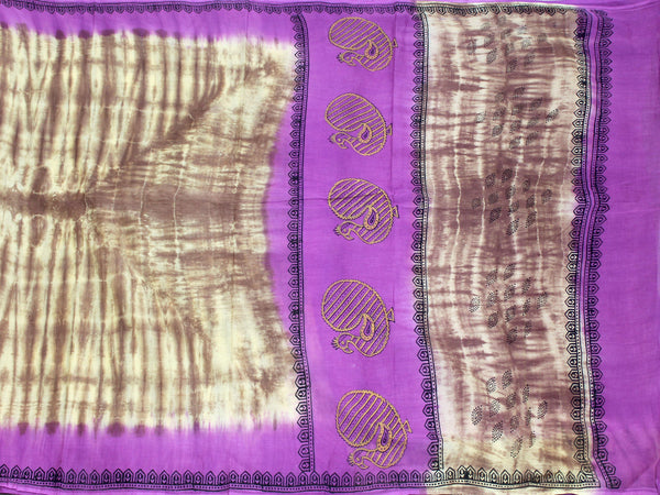 Pure Soft Cotton saree with beautiful pallu - 48029A, Sarees - Swadeshi Boutique