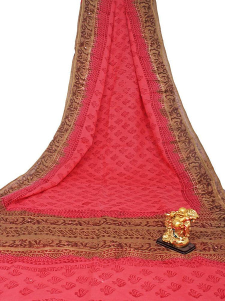 Soft Cotton saree with beautiful mirror work in pallu - 48035A - Swadeshi Boutique