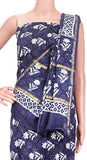 Chanderi silk with Batik print Salwar Set (3 Piece material - Bottom , Tops & Dhuppatta) - 52236A, Chudi - Swadeshi Boutique