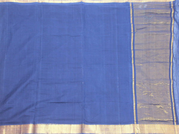 Mangalagiri Cotton Saree with Zari Border - 53008A   * New Arrival *, Sarees - Swadeshi Boutique