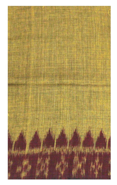 IKAT Handloom Cotton Blouse material with a popular Temple border-  (55017B)