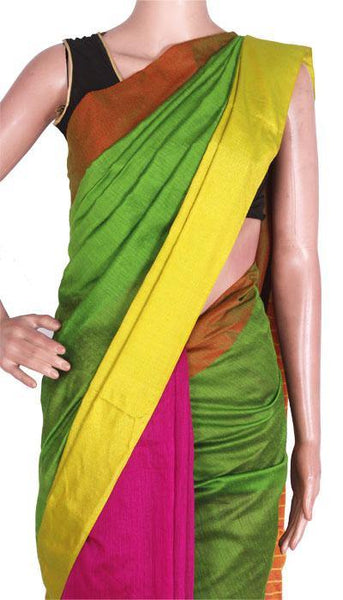 Silk and Soft Cotton Mahapar Saree with Ghicha work in pallu-57001A*New Arrival*, Sarees - Swadeshi Boutique