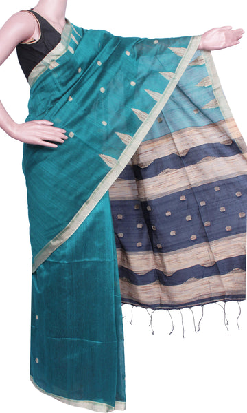 * Intro offer Rs.100 Off * Traditional Raw silk saree with buta allover body - 61002A
