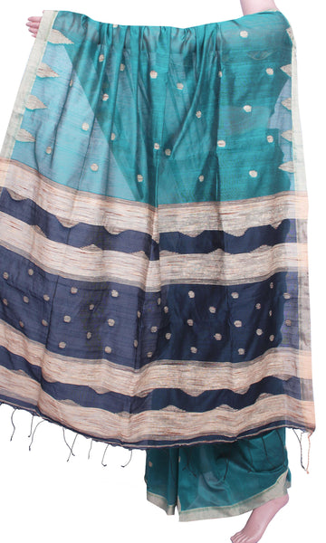 * Intro sale Rs.250 Off * Traditional Raw silk saree with buta allover body - 61002A