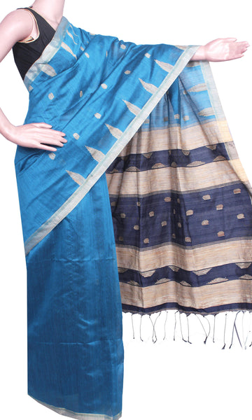 * Intro sale Rs.250 Off * Traditional Raw silk saree with buta allover body - 61006A
