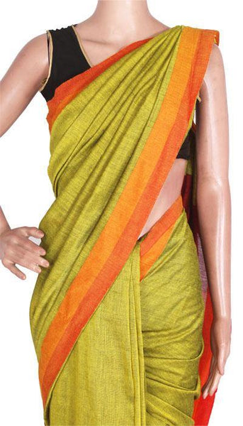 *New Arrival* Pure Khadi Cotton Saree (Plain) - 62001A, Sarees - Swadeshi Boutique