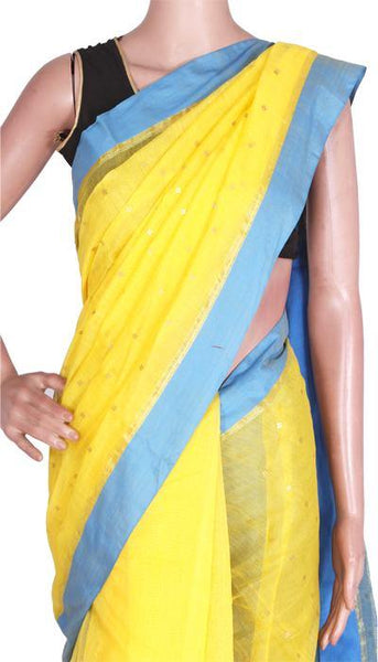 Silk Cotton saree with sequence work - 68001A*New arrival! Rs.200 Off *, Sarees - Swadeshi Boutique