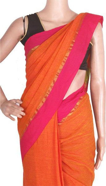 Khadi Cotton Saree (Plain) - 62002A*New Arrival*, Sarees - Swadeshi Boutique
