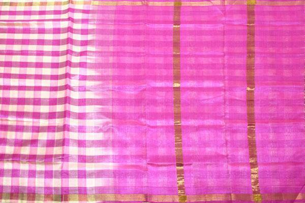 Kanchipuram Pure Silk cotton sarees with attractive pallu and Zari Border - (64014C)