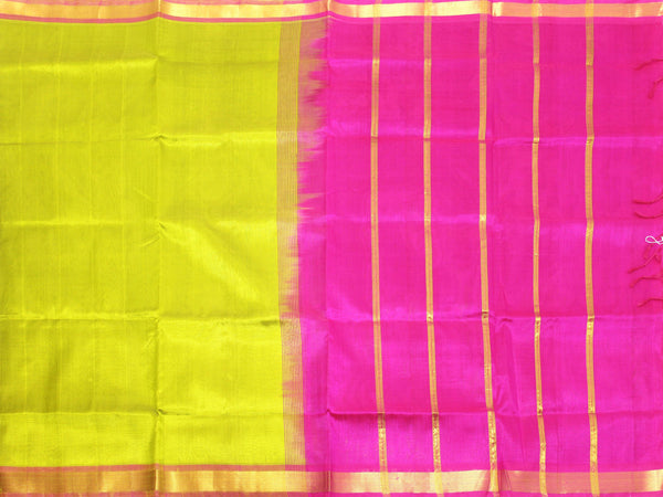 Kanchipuram Pure Silk cotton sarees with Pochampalli pallu and Zari Border -  (64016A), Sarees - Swadeshi Boutique