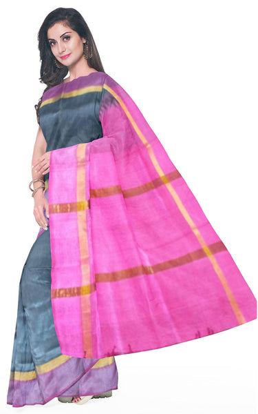 Kanchipuram Pure Silk cotton sarees with attractive pallu and Zari Border - (64032A) * Sale *, Sarees - Swadeshi Boutique