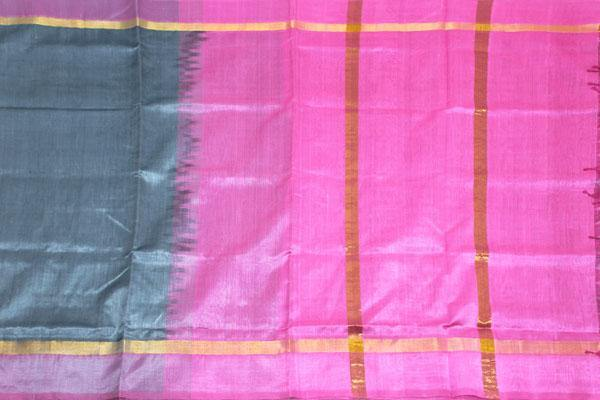 Kanchipuram Pure Silk cotton sarees with attractive pallu and Zari Border - (64032A)