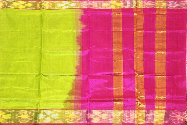 Kanchipuram Pure Silk cotton sarees with attractive pallu and Zari Border - (64033A), Sarees - Swadeshi Boutique