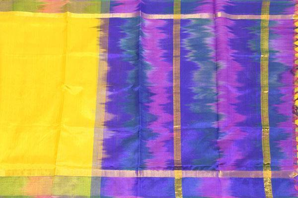 Kanchipuram Pure Silk cotton sarees with attractive pallu and Zari Border - (64035A)