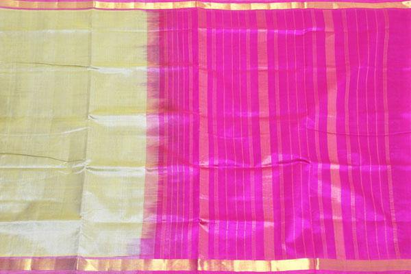 Kanchipuram Pure Silk cotton sarees with attractive pallu and Zari Border - (64037A)