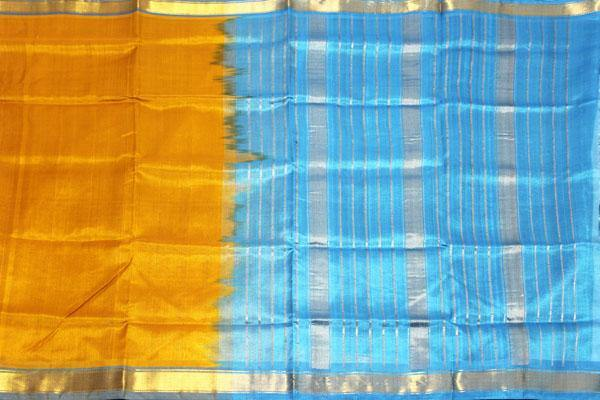 Kanchipuram Pure Silk cotton sarees with attractive pallu and Zari Border - (64038A)