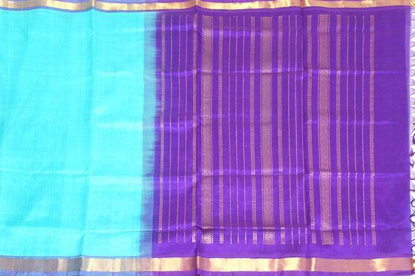 Kanchipuram Pure Silk cotton sarees with attractive pallu and Zari Border - (64040A)