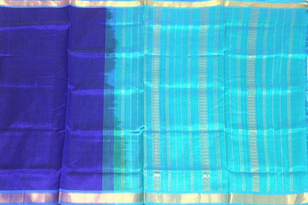 Kanchipuram Pure Silk cotton sarees with attractive pallu and Zari Border - (64041A)