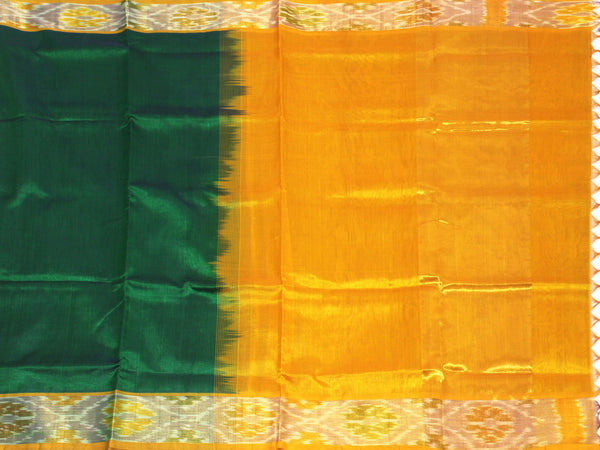 Kanchipuram Pure Silk cotton sarees with attractive pallu and Pochampally Border - (64046A), Sarees - Swadeshi Boutique