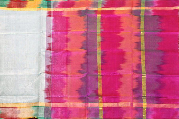 Kanchipuram Pure Silk cotton sarees with attractive pallu and Zari Border - (64057A). * Sale * - Swadeshi Boutique